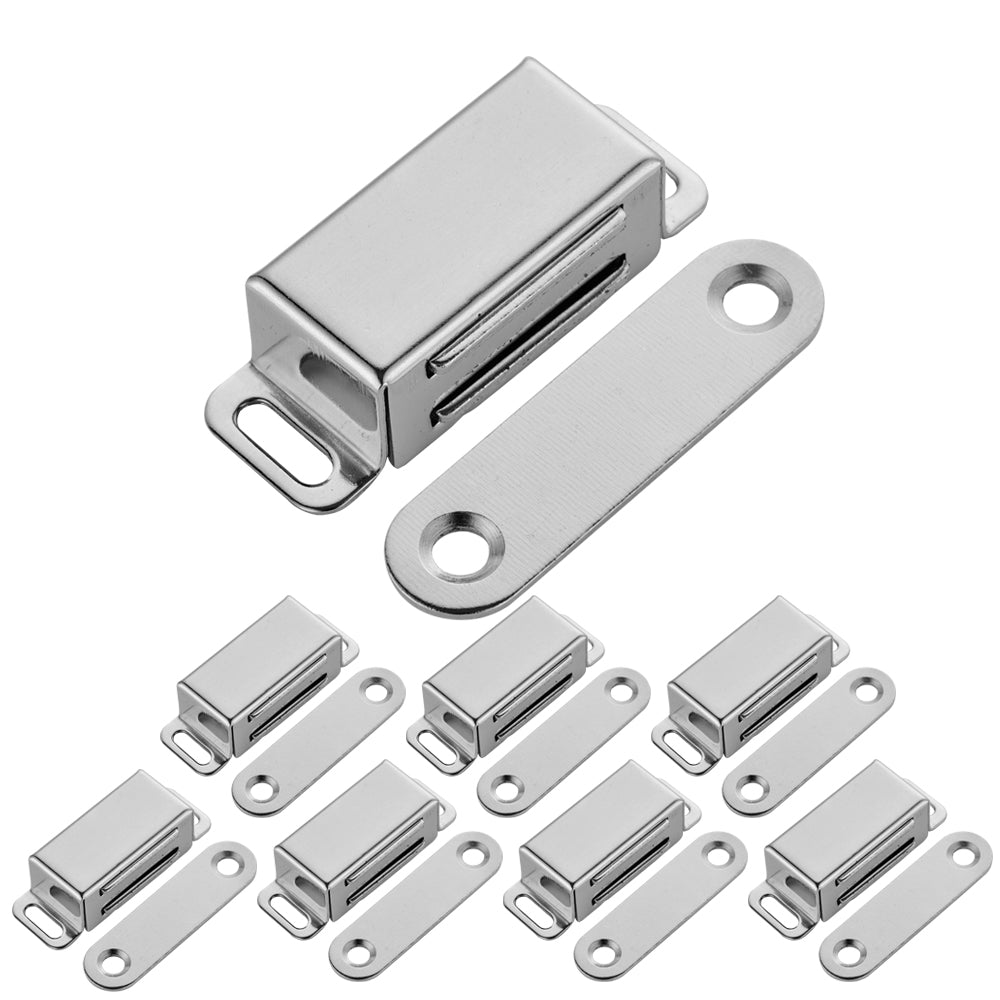 JQK Magnetic Cabinet Door Catch, Stainless Steel Closet Catches with Strong  Magnetic, Furniture Latch 15 lbs (Pack of 8), CC100-P8