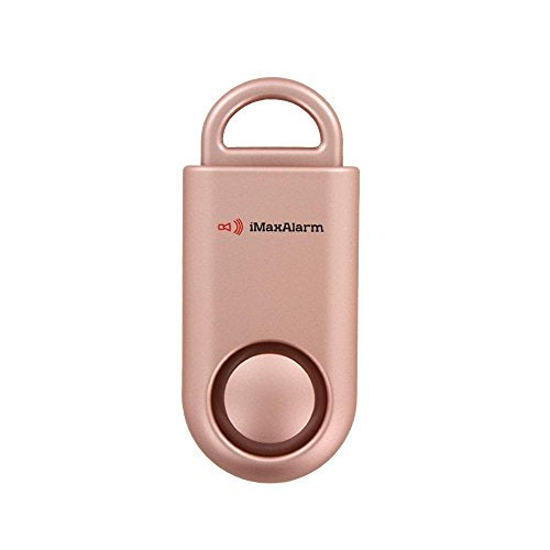 iMaxAlarm SOS Alert Personal Alarm - 130dB Alarm - Safety & Security Emergency Device - Matte Rose Gold