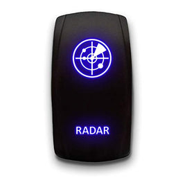 RADAR - Blue - STARK 5-PIN Laser Etched LED Rocker Switch Dual Light - 20A 12V ON/OFF