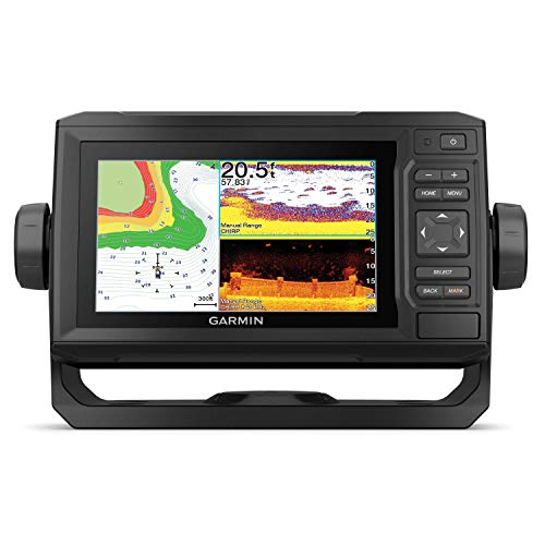 Garmin ECHOMAP UHD 63cv, Keyed Chartplotter with U.S. LakeVü g3 and GT24UHD-TM transducer