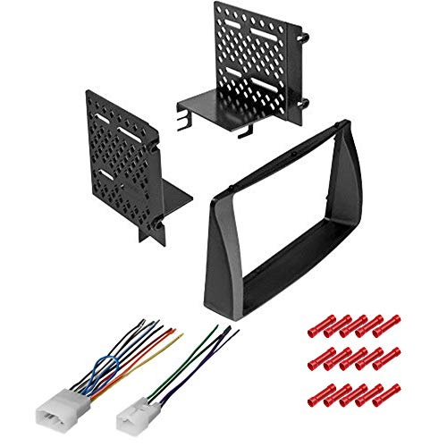 CACHÉ KIT566 Bundle with Car Stereo Installation Kit for 2003 – 2008 Toyota Corolla – in Dash Mounting Kit for Double Din Radio Receiver (3 Item)