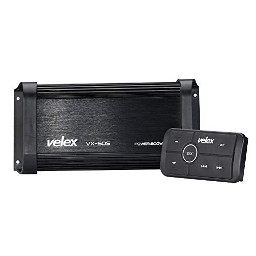 Marine Bluetooth Amplifier 4 Channel Class D Amp Stereo on Boats UTV ATV Golf Carts and Cars