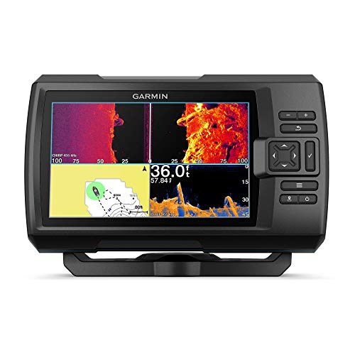 Garmin Striker Vivid 7sv, Easy-to-Use 7-inch Color Fishfinder and Sonar Transducer, Vivid Scanning Sonar Color Palettes (010-02553-00)