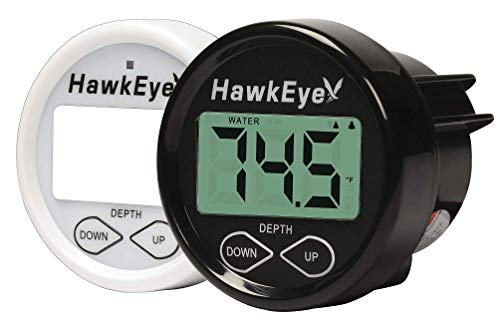 HawkEye DT2BX-TM In-Dash Depth Sounder with Air and Water Temperature (Includes Airmar Transom Mount Transducer)