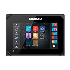 "Simrad GO7 XSR Chatplotter/Fishfinder with Radar Display, B uilt-in GPS, 7"" Widescreen Color LCD, 055-14078-001 (Renewed)"