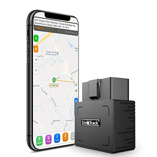 SinoTrack ST-902 GPS Tracker for Vehicles, Real-Time Mini OBD Car GPS Vehicle Tracking Device Hidden, OBD II GPS Car Tracker for Car Taxi and Truck, Support Tracking Platform Lifetime