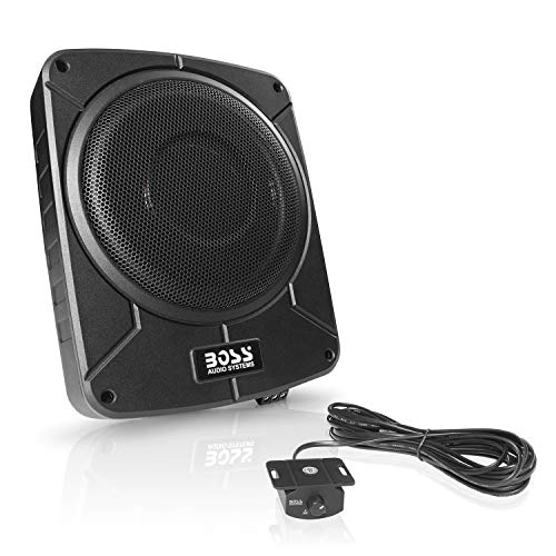 BOSS Audio Systems BAB10 Amplified Car Subwoofer - 1200 Watts Max Power, Low Profile, 10 Inch Subwoofer, Remote Subwoofer Control, Great for Vehicles That Need Bass But Have Limited Space