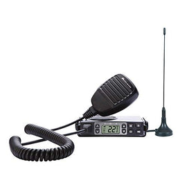 Midland 5 Watt GMRS MicroMobile Two-Way Radio - Long Range Walkie Talkie, & 142 Privacy Codes, & NOAA Weather Scan + Alert (Black)