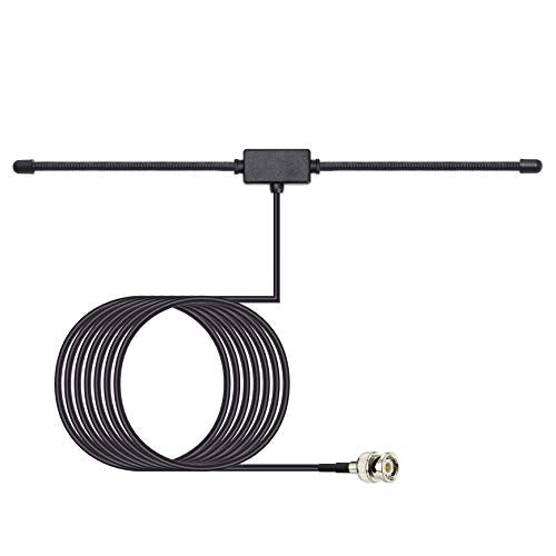 Bingfu Police Radio Scanner Antenna 20-1300MHz Adhesive Mount BNC Male Dipole Antenna Vehicle Ham Radio Amateur Radio Mobile Scanner Antenna Compatible with Uniden Bearcat Whistler Radio Shack Scanner