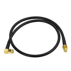 Bingfu Ham Radio Antenna Extension Cable SMA Male Right Angle to SMA Female RG58 Coaxial Cable 60cm 2 feet for Ham Radio Kenwood BaoFeng Wouxun Icom Yaesu Vertex Standard Horizon Marine VHF Radio