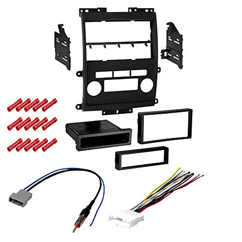 CACHÉ KIT2010 Bundle with Car Stereo Installation Kit for 2009 – 2012 Nissan Frontier – in Dash Mounting Kit, Harness, Antenna for Single or Double Din Radio Receivers (4 Item)