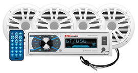 BOSS Audio Systems MCK632WB.64 Marine Stereo Package - Bluetooth, - no CD DVD MP3 USB WMA AM FM Radio, 6.5 Inch Speakers, Antenna, Weatherproof