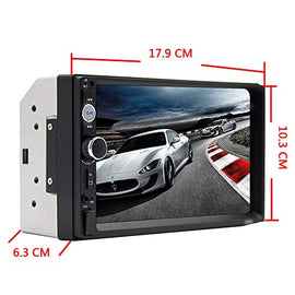 "Car Stereo 2 din car Radio 7"" HD Player MP5 Touch Screen Digital Display Bluetooth Multimedia USB 2din Autoradio Mobile Phone interconnetion with 12 LED Car Backup Camera"