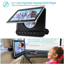 "Vanku 10.1"" Car DVD Player with Headrest Mount, Headphone, HDMI, Support 1080P Video, AV in Out, Region Free, USB SD, Last Memory"