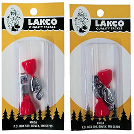 Lakco Depth Finders - Red-Orange - #832 (2 Packs of 2)