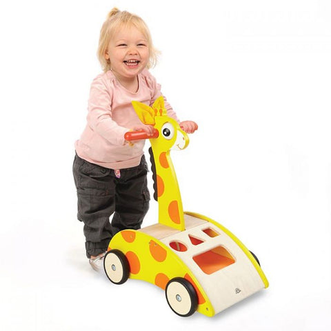 Wonderworld Giraffe Walker Wooden Toddler Toy 12+ months