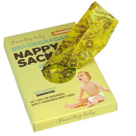 Beaming Baby Biodegradable Nappy Sacks FRAGRANCED 60 sacks