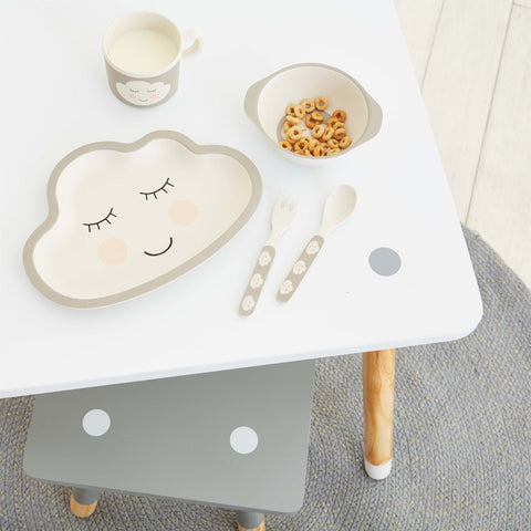 SWEET DREAMS CLOUD BAMBOO KID'S DINNER SET