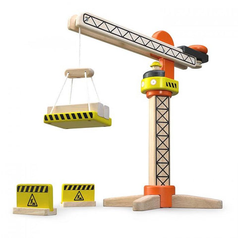 Wonderworld Mini Tower Crane Wooden Toddler Toy 36+ Months