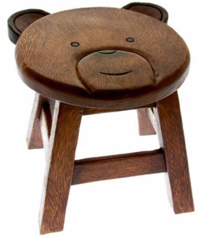 Child's Bear Wooden Stool