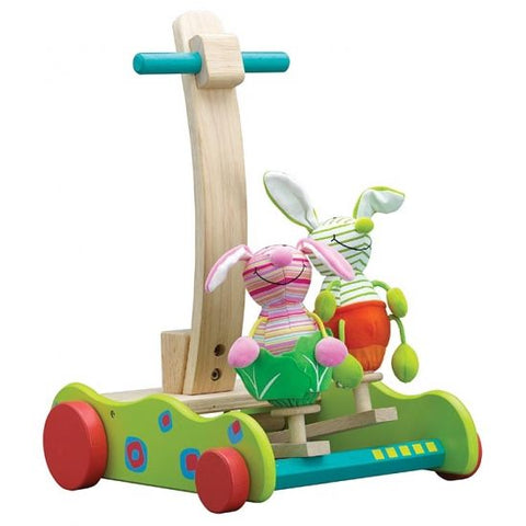 Hopping Bunny Walker Wooden Toddler Toy 12+ Months