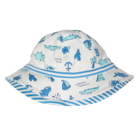 My World Sun Hat (reversible) - nb-6 mths