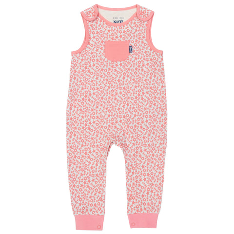 Sea Floral Dungarees 12-18 mths