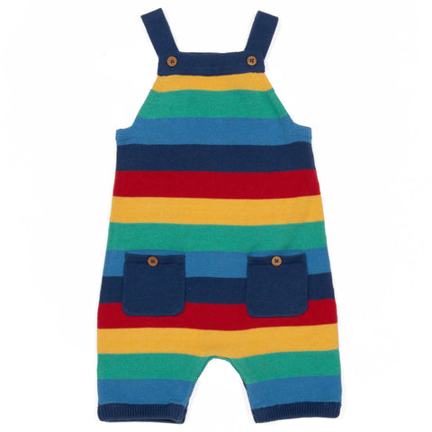 Rainbow Knit Dungarees 3-6 mths
