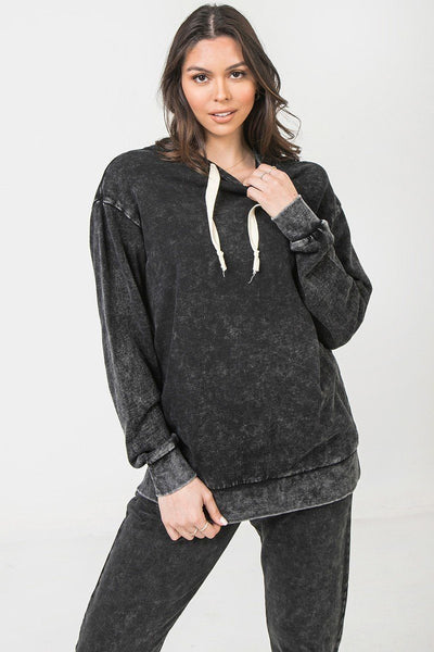 A Mineral Washed Hoodie - Kimmie Jean
