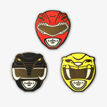 Load image into Gallery viewer, Red/Black/Yellow Power Ranger Pin Set