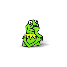 Load image into Gallery viewer, Anxious Kermit Enamel Pin