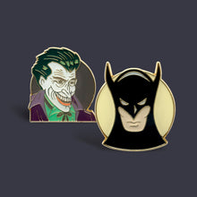 Load image into Gallery viewer, Batman/Joker Vintage 2-Pin Set