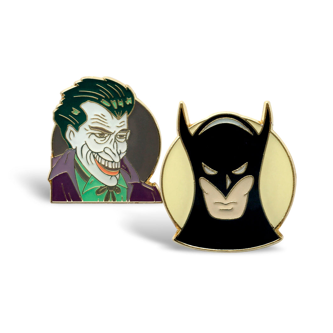 Batman/Joker Vintage 2-Pin Set