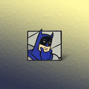 Thinking Batman Enamel Pin