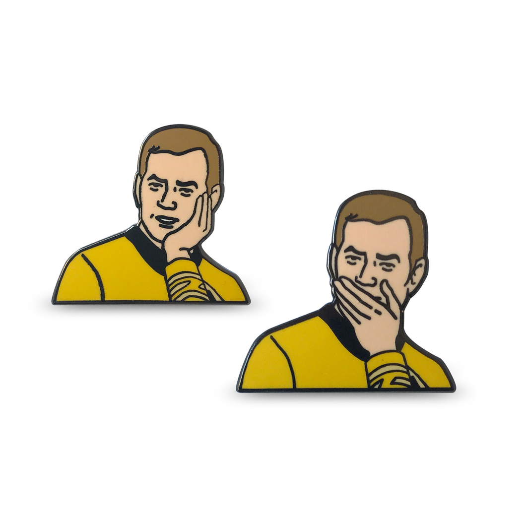 Sarcastically Surprised Kirk Pin Set