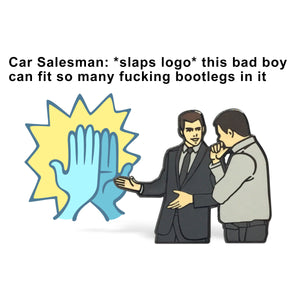 Car Salesman Enamel Pin