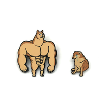 Load image into Gallery viewer, Swole Doge vs Cheems Pin Set