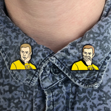 Load image into Gallery viewer, Sarcastically Surprised Kirk Pin Set