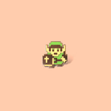 Load image into Gallery viewer, 8-Bit Link Enamel Pin