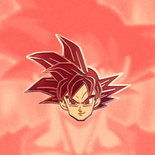 Load image into Gallery viewer, Goku SS God Enamel Pin