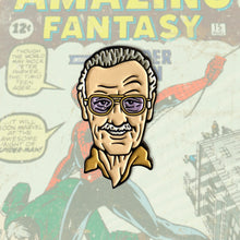 Load image into Gallery viewer, Stan Lee Enamel Pin