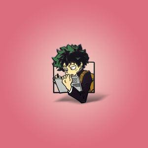 Studying Midoriya Lapel Pin