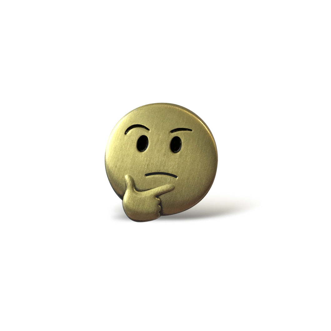 Thinking Face 3D Enamel Pin