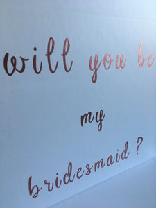 Will you be my bridesmaid proposal box