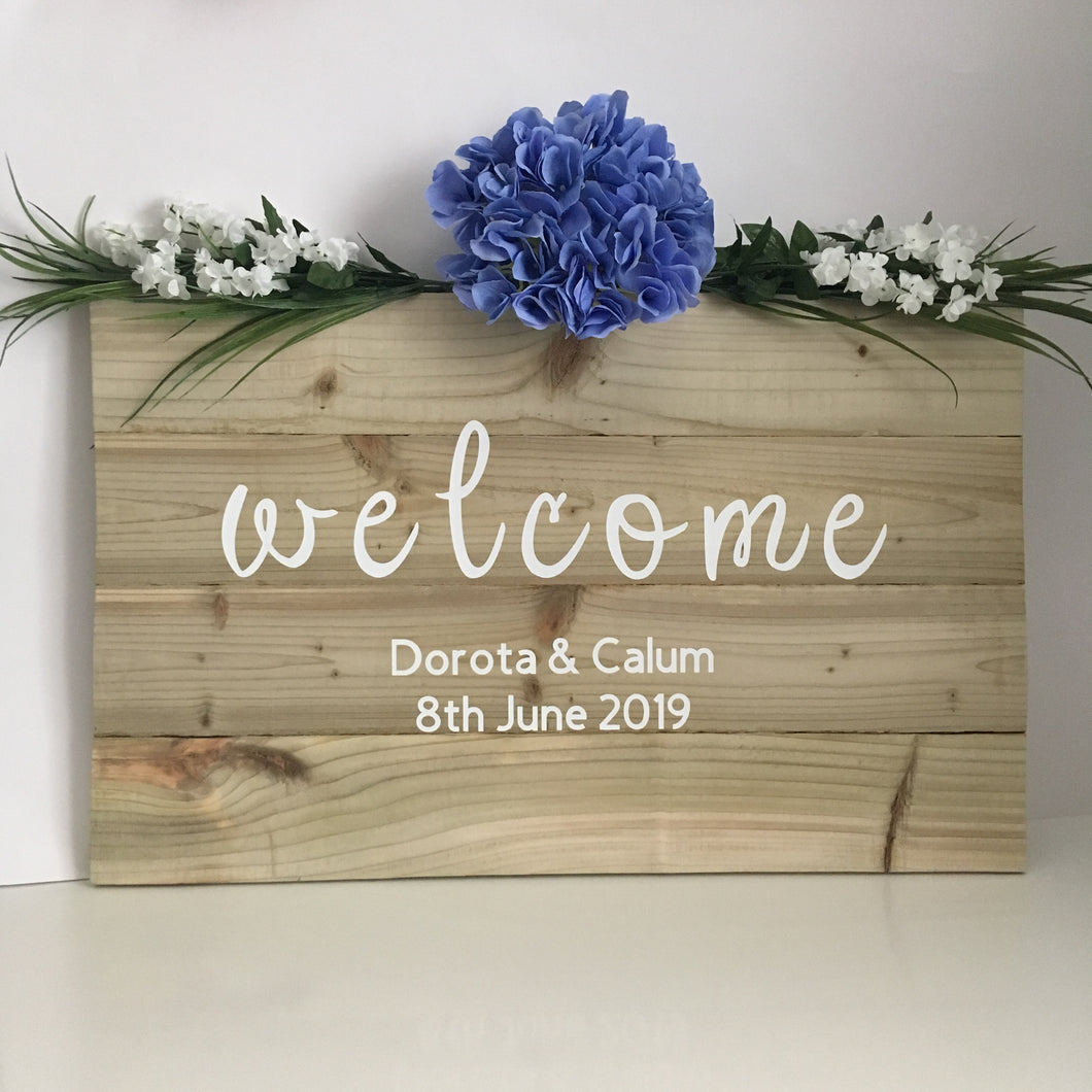 Wedding Wooden Welcome Sign