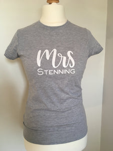 Personalised Mrs Tee