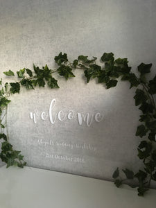 Wedding Perspex Welcome Sign
