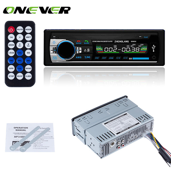 Onever Bluetooth Car Stereo Audio In-Dash FM Aux Input Receiver SD USB MP3 Radio Player Bluetooth Mp3 Player 1din Voiture