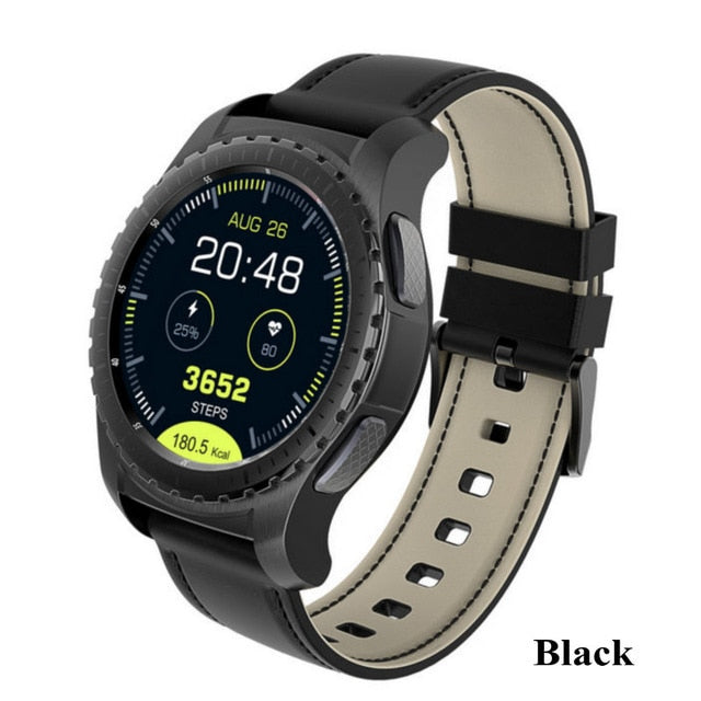 Hold Mi KW28 Bluetooth Smart Watch Support SIM/TF Card Men Wristwatch Fitness Tracker Heart Rate Anti-lost For Android IOS Phone