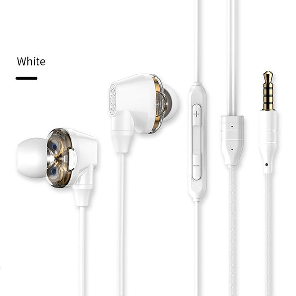 Baseus S10 Double dynamic bluetooth earphone / H10 3.5MM Wired Earphone stereo bass sound earphones with mic for mobile phone